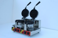 Commercial using double rotate waffle baker machine