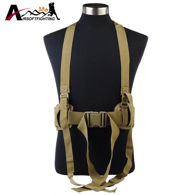 Tactical Molle Waist Padded Belt with H-shaped Suspender 1000D Nylon Combat Duty Battle Belt Cummerbunds For Men