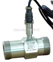 PLC water flow meter diesel flowmeter liquid turbine flow meter sensor transmitter lwgy 40 threaded connection
