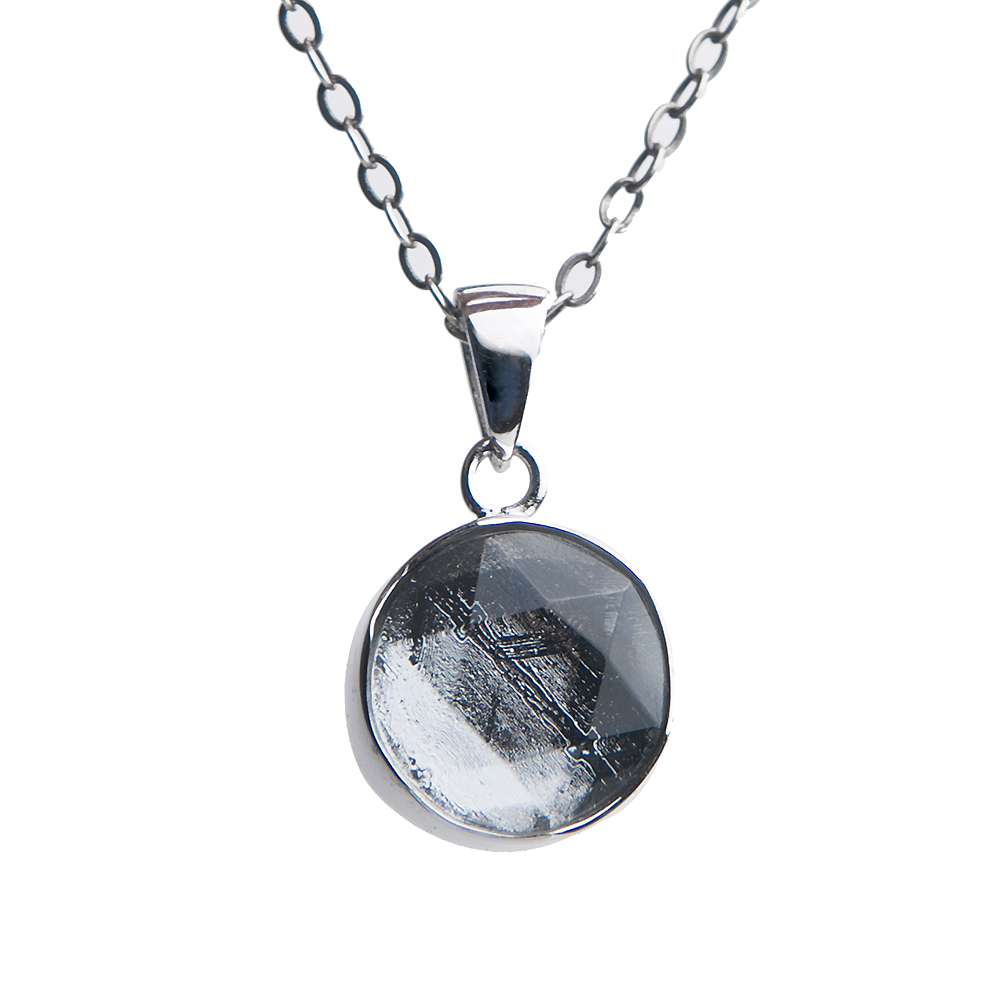 Natural Gibeon Iron Meteorite Pendant Necklace For Woman Man STAR OF DAVID Moldavite 925 Silver Chain Fashion Jewelry 10mm 12mm