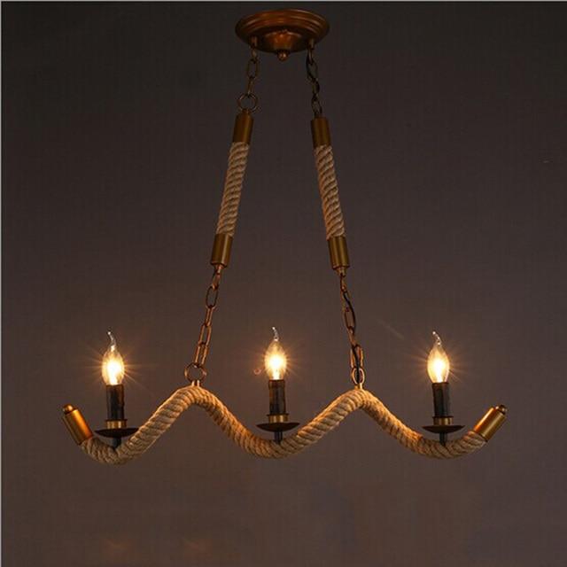 3 lamps hemp ropes vintage pendant lamp retro hanging light e14 3 lamps hemp ropes vintage pendant lamp retro hanging light e14 bulb for cafe loft restaurant aloadofball Gallery