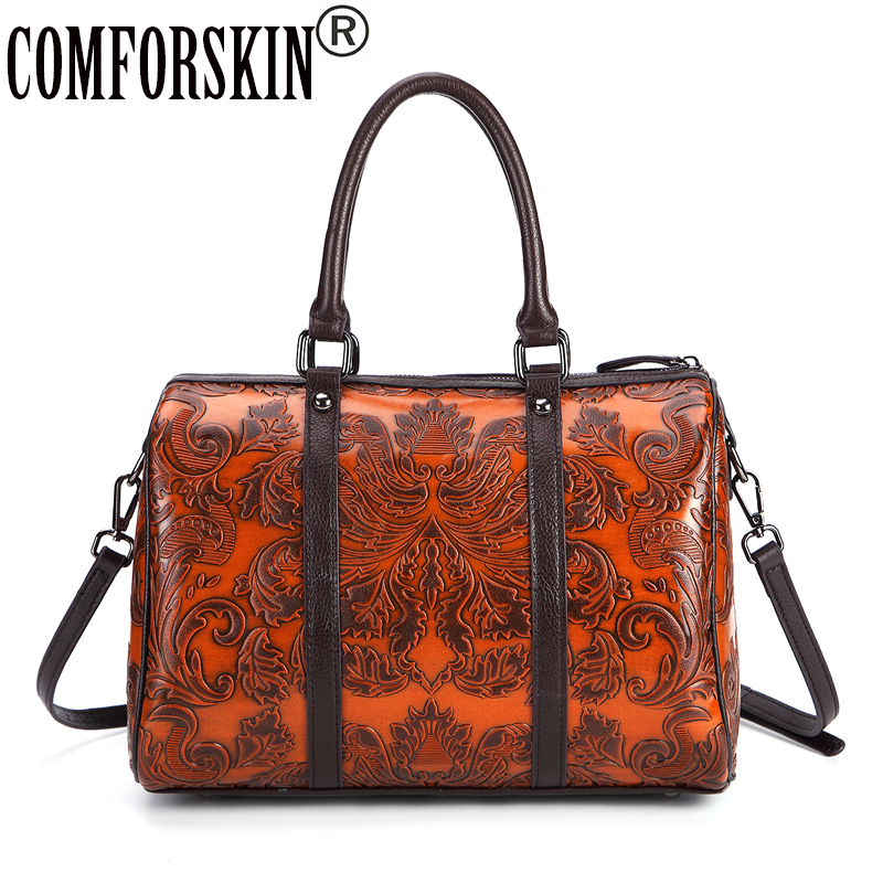 COMFORSKIN Brand Bolsas Feminina Genuine Leather Large Capacity Women Handbag 2017 New Arrivals Vintage Women's Bag Shoulder Bag