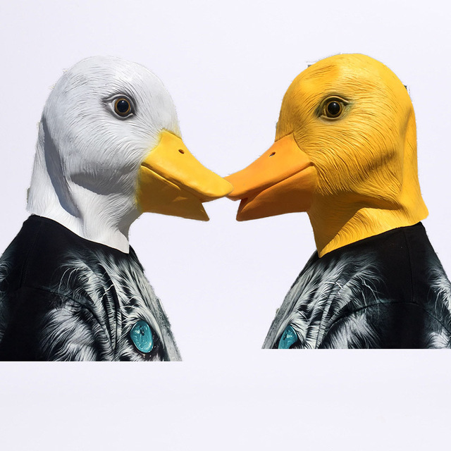 Cute Animal duck Mask Novelty Latex Rubber Creepy Funny Yellow white Duck Head Mask face Halloween & Cute Animal duck Mask Novelty Latex Rubber Creepy Funny Yellow white ...
