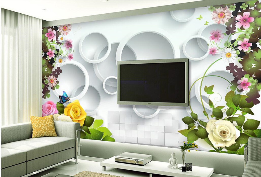 Vogue beautiful rose flower 3D wallpaper papel de parede, living room sofa TV wall bedroom wall papers home decor large murals blue earth cosmic sky zenith living room ceiling murals 3d wallpaper the living room bedroom study paper 3d wallpaper