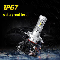 Vehemo 9012 Front Light Bulb Car Styling X3 Light Durable Led Headlight Replacement Car Head Lamp Automobile