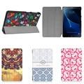 4 Вт Кожа PU Case Уникальный дизайн Окрашенные Магнитный Откидная Крышка Для Samsung Galaxy Tab A 10.1 (2016) SM-T585 SM-T580 T580 Tablet