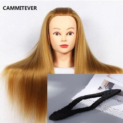 Cammitever 20 парикмахерские Учебные головы-манекены плетение волос манекен прически кукла головы парик волос инструмент манекен головы + зажим