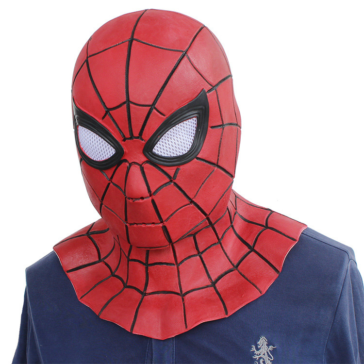 Amazing Spiderman Adjustable Mask Lenses Adult Halloween Party Accessory Masque Spider-Man Cosplay Masks Drop Ship