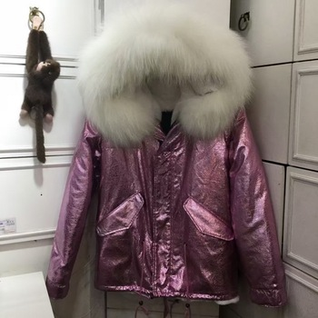 Pink Fur Parka,Fashion Unisex Winter Colorfully Faux Inner Fur Winter Warm Fur Jacket For Adults