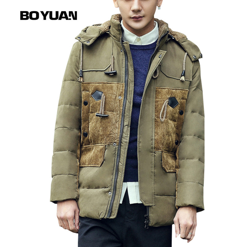 Boyuan Down Coat Down Jackets And Coats Men Winter Coat And Jacket Winter Jacket Men Mens Hooded Fur Coats Men Down Jacket Y8501