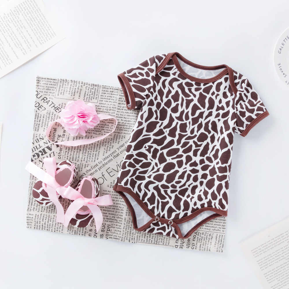 3 piezas conjunto bebé recién nacido de verano de las niñas Floral mamelucos + cinta 3 6 12 18 24 meses bebé niñas traje de flores