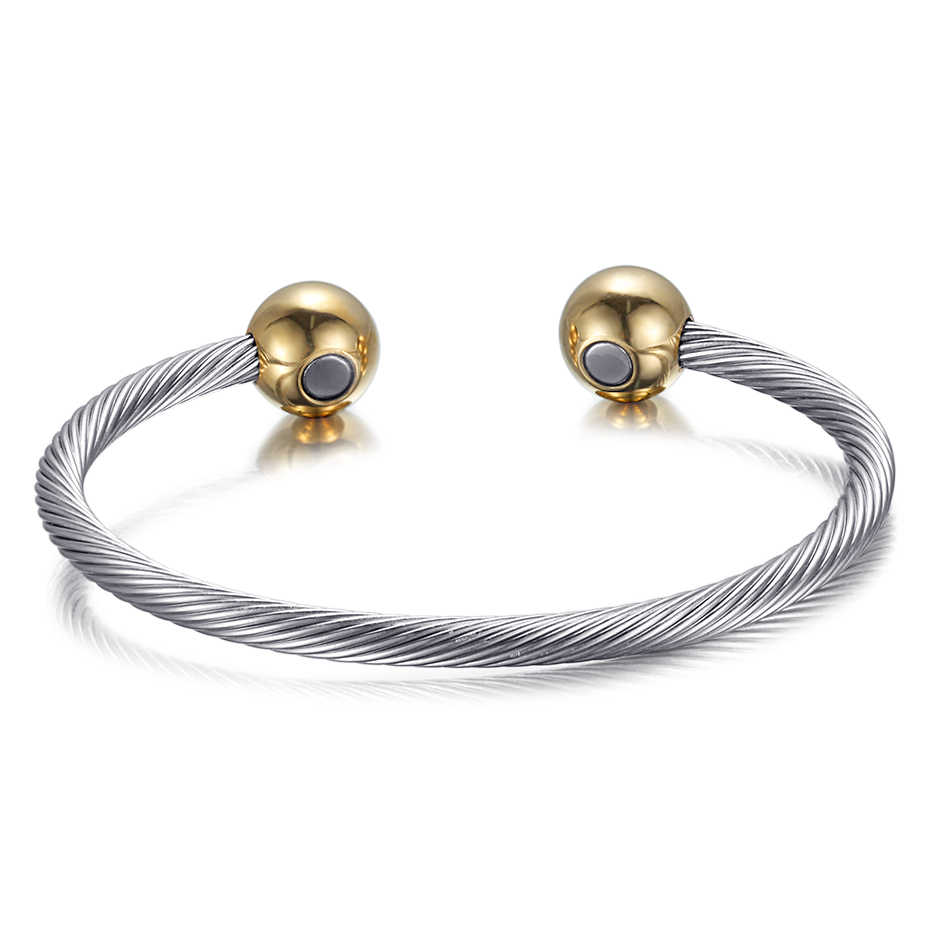 RainSo נחושת צמידים וצמידים לנשים בריאות מגנטי מתכוונן קסם חוט מעוקב צמיד מכירה למעלה Drop-תכשיטי ספינה