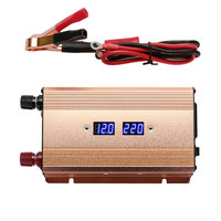 DC 12V To AC 220V 3000W Gold Universal Portable Car Inverter Charger Transformer Power Supply Solar