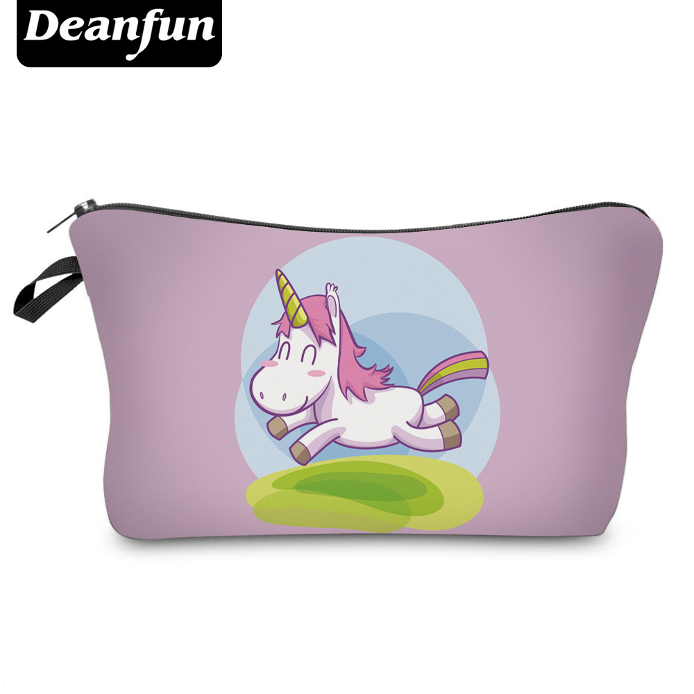 Deanfun Cosmetic Bag 3D Printed Unicorn 2017 New Fashion Zipper Polyester Necessary Travel Women Makeup Organizer Storage 50764