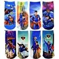 Superman niños calcetines de tobillo calcetín corto 2-15years niños manguera hero niños calcetines del tobillo rodilla zapatillas