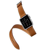 4Colour The 100 Long Genuine Leather Strap For Apple Watch Band Double Tour Bracelet Leather Watchband