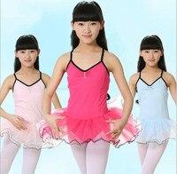 Cotton Ballet Leotards Kid Children Ballet Tutu Girls 3 Color Tutu Dress Dance Ballet Dance Dress