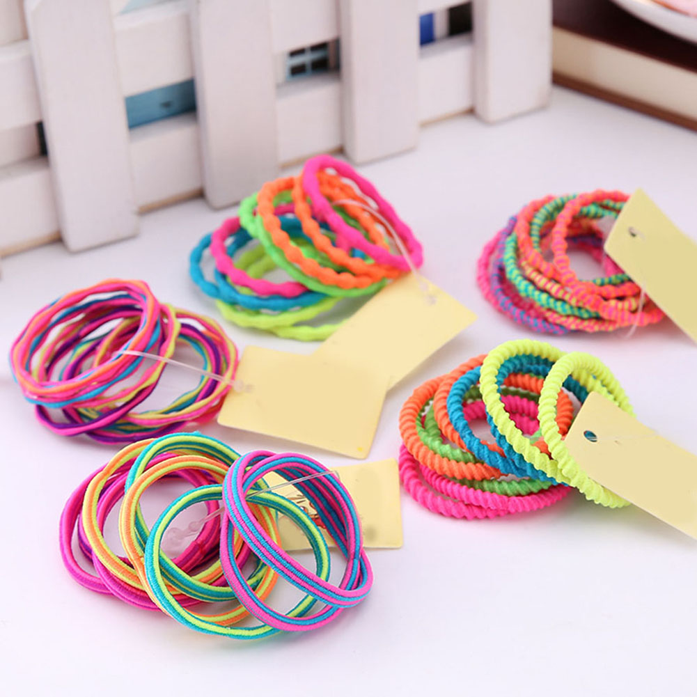 10Pcs/Lot Girls Colorful Elastic Hair Band 2019 New Lovely Kids Hair Ropes Ponytail Holder Ties Scrunchie Hair Accessories