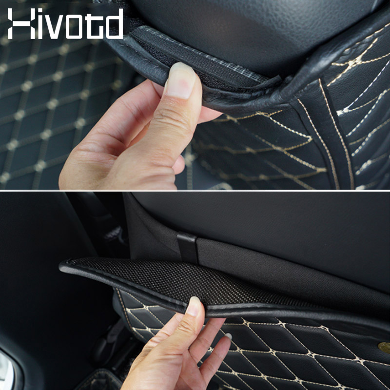 Hivotd For Toyota C HR CHR 2018 2019 Interior Mouldings Refit Armrest box Rear seat Kick proof mat Anti dirty Pad accesorios in Car Anti dirty Pad from Automobiles Motorcycles