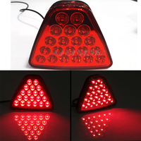 1Pcs Car Tail Light LED Brake Stop Reversing Warning Lamp Red Triangle Flash Strobe Styling 20