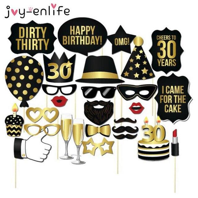 Populair JOY ENLIFE 1 set Man Vrouw Stijl 30th Verjaardag Foto Props  VK43