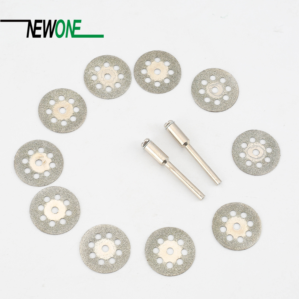 10Pcs 22mm Rotary Tool Accessory Diamond Cut Off Wheel Disc Fits Proxxon Dremel Rotary Tools Craftsman 51pc 25mm cut off wheel dental metalworking dremel accessories for rotary tools