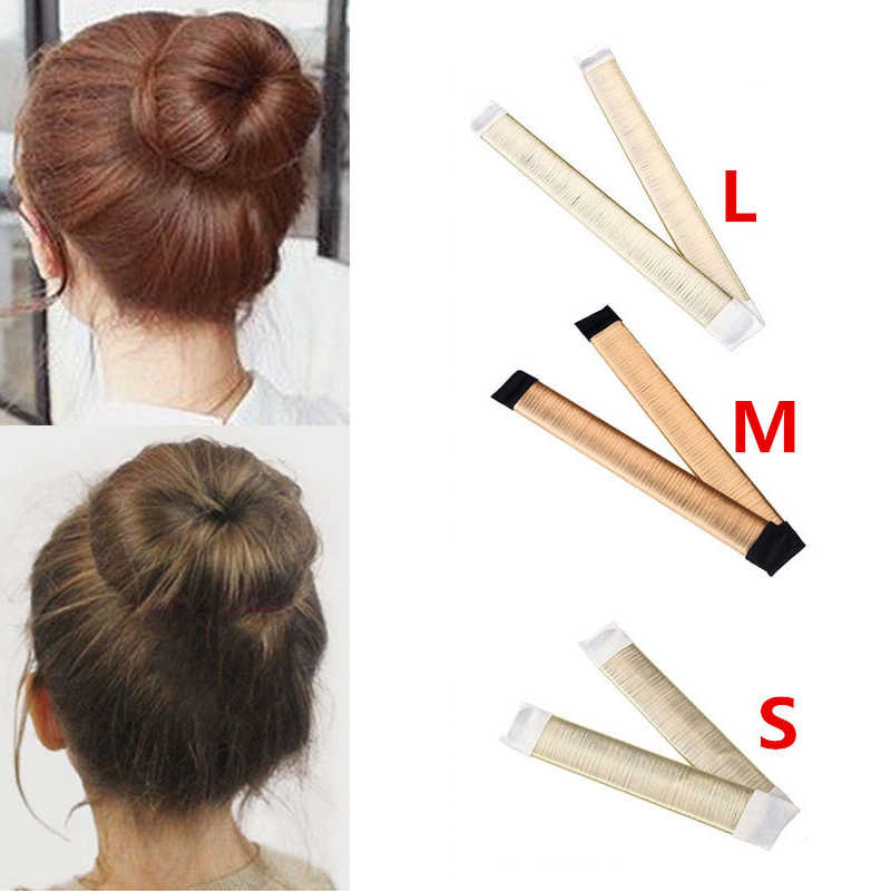 M MISM 15cm/21cm/24.5cm Ball Bend Magic Bun Wig Flexible French Chignon Hair Bands Making Style Hair Accessories for Women Kids