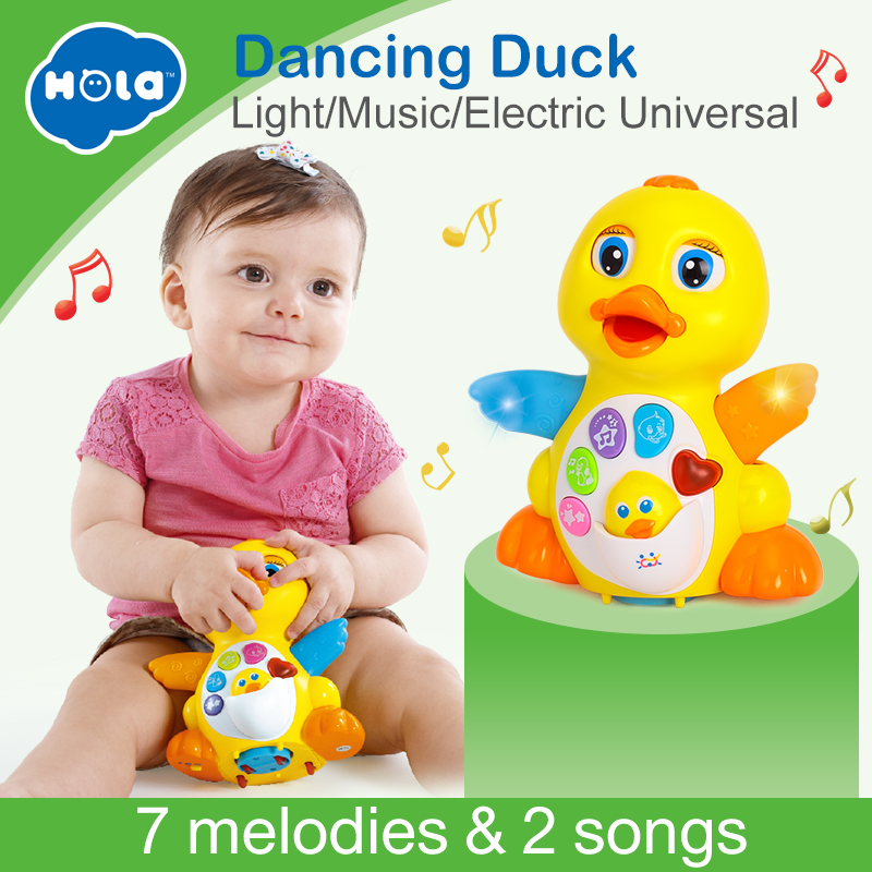 Dancing Duck Battery Operated Toy Figure Action Toy with Flashing Lights Electric Universal Musical Baby Toys 4