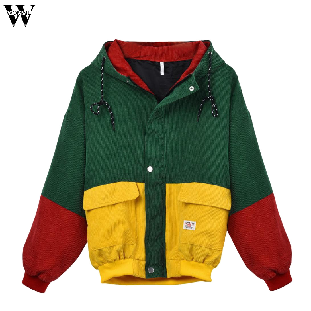 Womail Women   jacket   Coat Women's   Basic     Jacket   with Pockets Thin Girl Windbreaker Outwear Hooded Bomber Female Baseball Coat J722