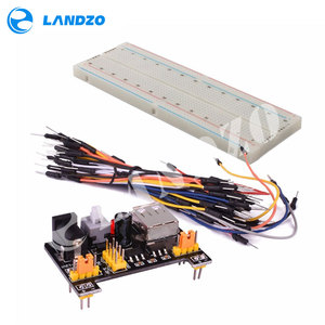 Image 5 - Placa de pruebas de potencia MB102 módulo + MB 102 kit de prototipo sin soldadura de 830 puntos + 65 cables de puente flexibles