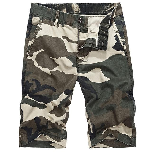 9d52f5f98b5 Icpans Casual Shorts Army Cotton Camo Shorts Men Summer Knee Length 2018  Camouflage Khaki Cargo Shorts Men Plus Size 42 44