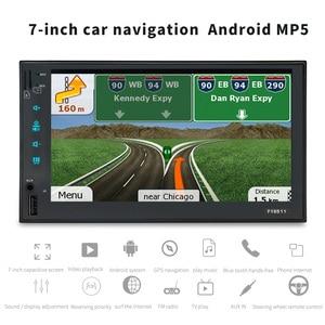 Image 3 - AOSHIKE 2 Din Android 6,0 Автомобильный мультимедийный плеер GPS 7 HD Автомобильный MP5 плеер Bluetooth WIFI четырехъядерный FM MP4 автомобильное радио