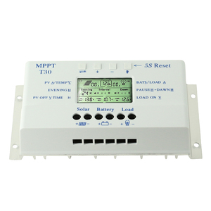 Image 2 - NEW MPPT T30 Solar Charger Controller 30A 12V 24V Auto LCD Display CE Certificated Light and Dual Timer Control Voltage Settable