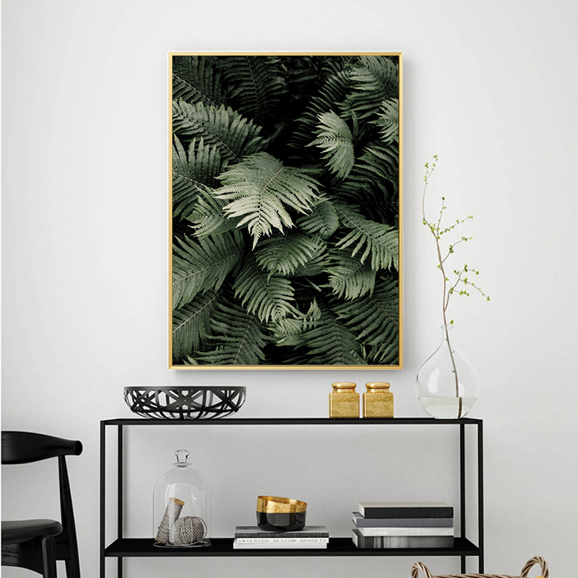 HTB1jSBtao rK1Rjy0Fcq6zEvVXay Green Plant Leaf Canvas Poster Quotes Print Scandinavian Style Painting Decorative Picture Modern Living Room Nordic Decoration