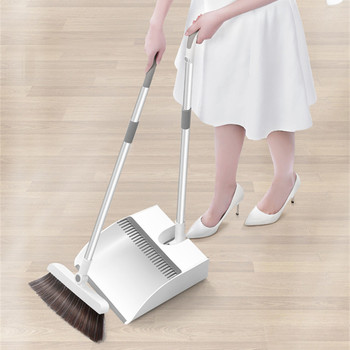 Magnetic Broom Dustpan Suit Creative Combination Floor Hair Sweeping Thicken Windproof Non-Slip Handle Household Cleaning Tools