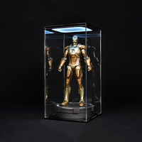 2 Models 1/6 Scale Transparent Dust Proof Display Box With Light Dust Box For 12 Action Figure Body Doll Accessories