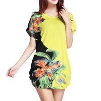 20 Designs New 2014 Women Summer Casual T Shirts Girl Fashion Clothing Cotton Tops Tees Plus