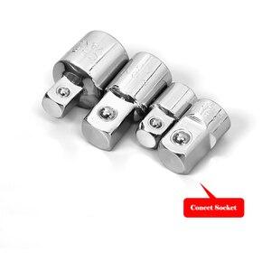 """Image 4 - Adaptador de llave de carraca de 1/4 """", 3/8"""" y 1/2 """"adaptador de funda de acero al cromo y vanadio"""