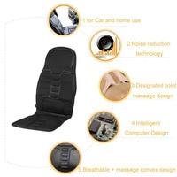 CarNeck Back Massage Cushion Seat Household Office Full Body Massage Cushion Lumbar Heat Vibration