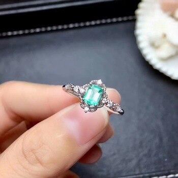 shilovem 925 sterling silver green Emerald Rings fine Jewelry Customizable women trendy wedding  open wholesale mj0405012agml