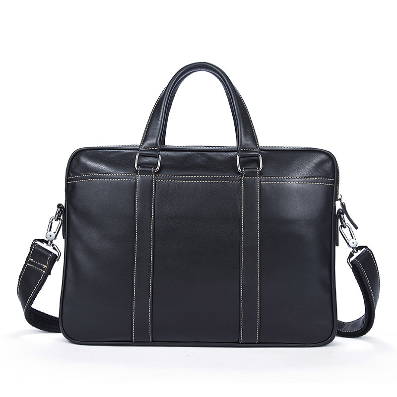 100% Genuine Leather Simple Briefcases Business Men Briefcase Bag 14 Laptop Bag Casual Man Shoulder bags Crossbody Bags 7612 mva men genuine leather bag messenger bag leather men shoulder crossbody bags casual laptop handbag business briefcase