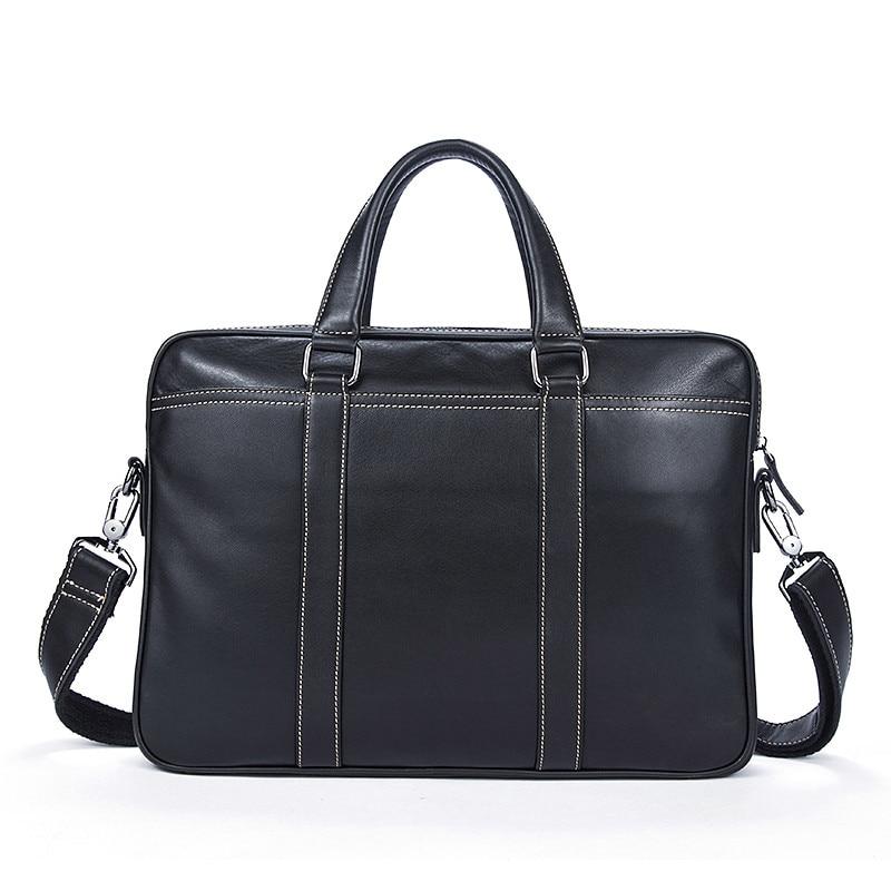 100% Genuine Leather Simple Briefcases Business Men Briefcase Bag 14 Laptop Bag Casual Man Shoulder bags Crossbody Bags 7612100% Genuine Leather Simple Briefcases Business Men Briefcase Bag 14 Laptop Bag Casual Man Shoulder bags Crossbody Bags 7612
