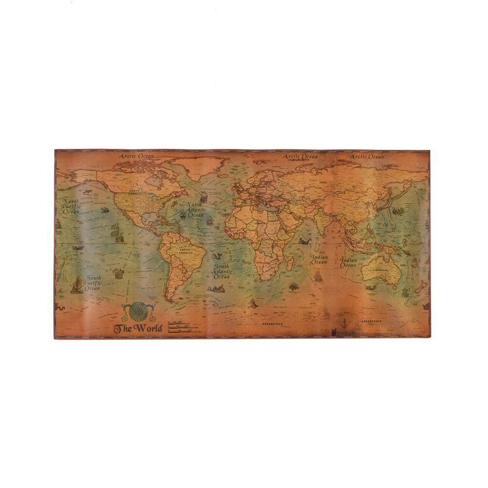 100*50cm Nautical Ocean Sea World Map Retro Old Art Paper Painting Home Decor Wall Poster Stationery School Office Supply