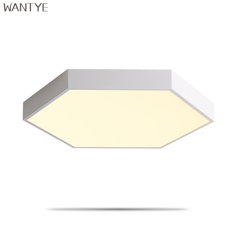 Modern Black LED Ceiling Light Dimmable Geometric Ceiling Lamp Bedroom Living room Kitchen Acrylic Indoor Lighting Fixtures