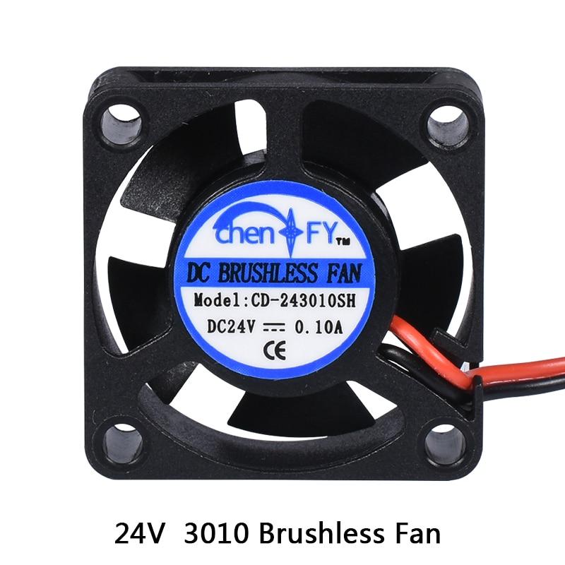 gtfs 30mm x 30mm x 10mm 3010s 12v 0 06a brushless dc cooling fan 3010s 30MM 30 x 30 x 10MM 24V 2Pin DC Cooler Small Cooling Fan For 3D printer part