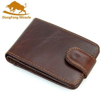 Górna warstwa skórzane na co dzień pakiet kart RFID anty skanowania, torba na karty mężczyzn portfel biznes mężczyźni posiadacz karty banku posiadacza karty