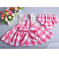 2016 New pink infant baby cute lace rompers newborn baby girls outfits fashion toddler kids clothes bow retail with shorts