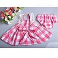 2016 Nova rosa infantil bebê bonito macacão de renda do bebê recém-nascido meninas roupas moda infantil criança roupas arco de varejo com shorts