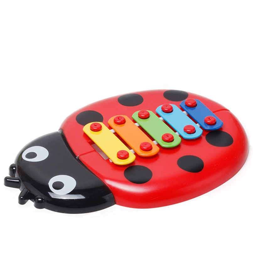 Education Toy Baby Kids Colorful Ladybird Model Xylophone Musical Toys Early Education Wisdom Development Toys Baby Toys JE15#F (2)