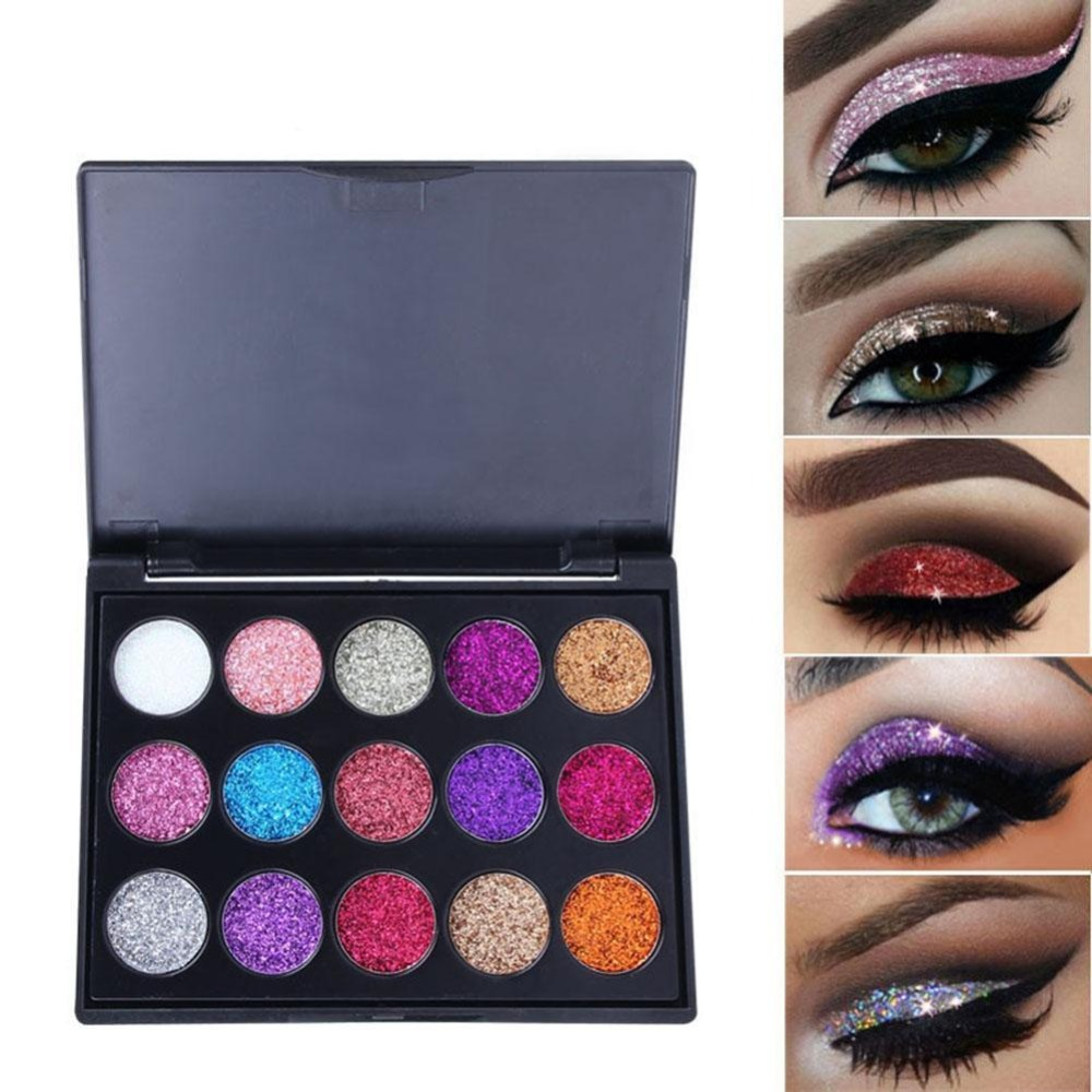 9 Colors Nude Shining Eyeshadow Palette Makeup Glitter